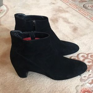Italian made black suede ankle boots